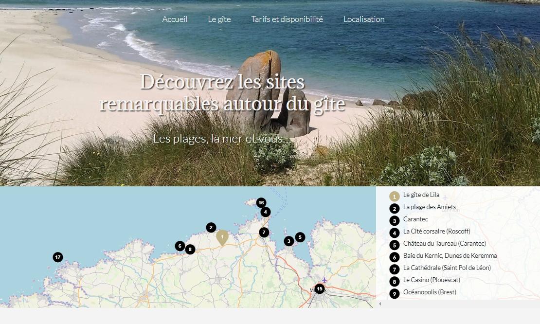 Carte de géolocalisation